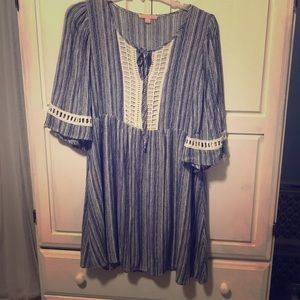 SALE🎉Gibson/Latimer Tunic BL/Cr  dress NWOT